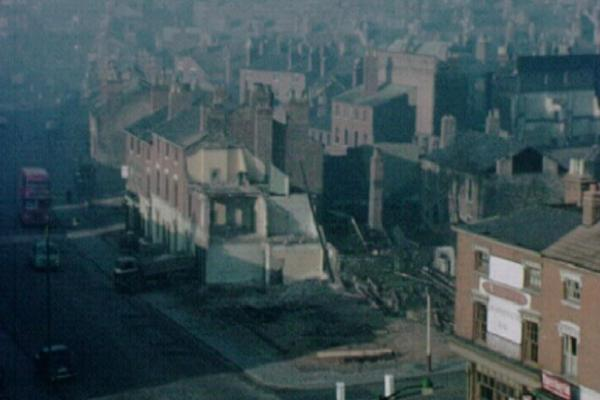 Image of a housing estate in the middle of redevelopment.