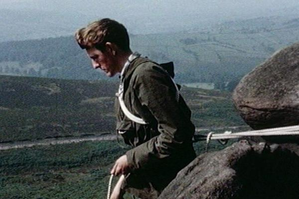 Image of a man training in the Peak District.