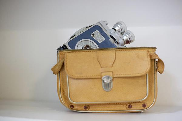 An image of an cine camera in its carry case.