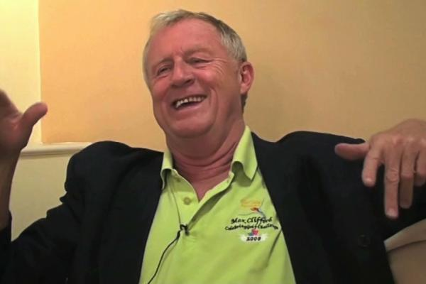 Image of chris tarrant being interviewed.