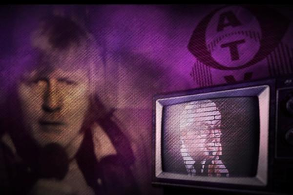 Image of Chris Tarrant beside an image of an old television.
