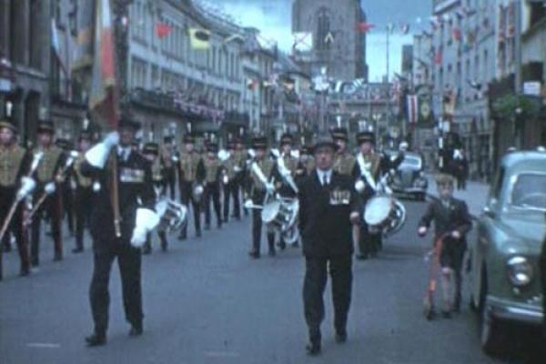 Image of a parade in Hereford.