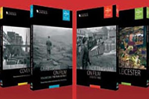 Image of the nine DVDs in the Midlands on Film Series.
